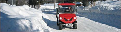 utilitaire électrique Alkè sur la neige
